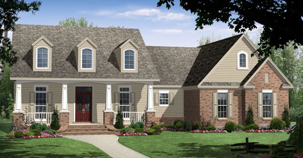cape cod craftsman traditional house plan 59104 elevation - Cape Cod Craftsman