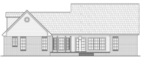 Cape Cod Craftsman Traditional House Plan 59104 Rear Elevation