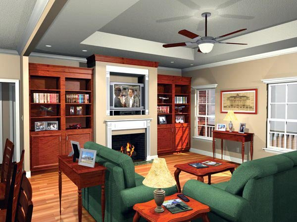 Country European Traditional House Plan 59106
