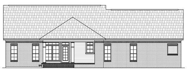 Country European Traditional House Plan 59106 Rear Elevation