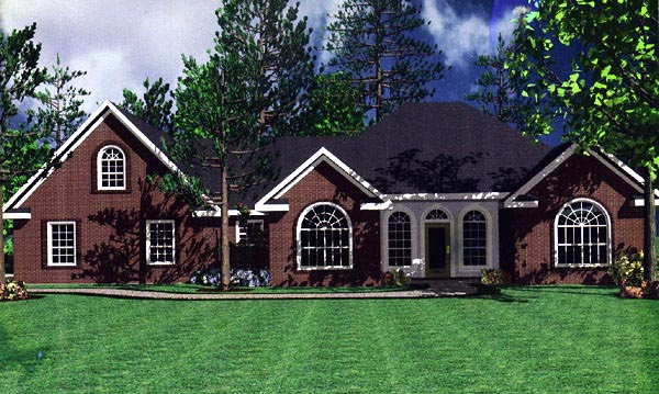 european french country ranch traditional house plan 59111 elevation