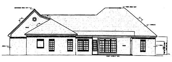 European French Country Ranch Traditional House Plan 59111 Rear Elevation