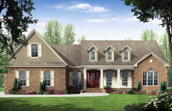 Country Traditional House Plan 59114 Elevation