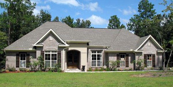 European, French Country, Traditional House Plan 59117 with 3 Beds, 3 Baths, 2 Car Garage Picture 1