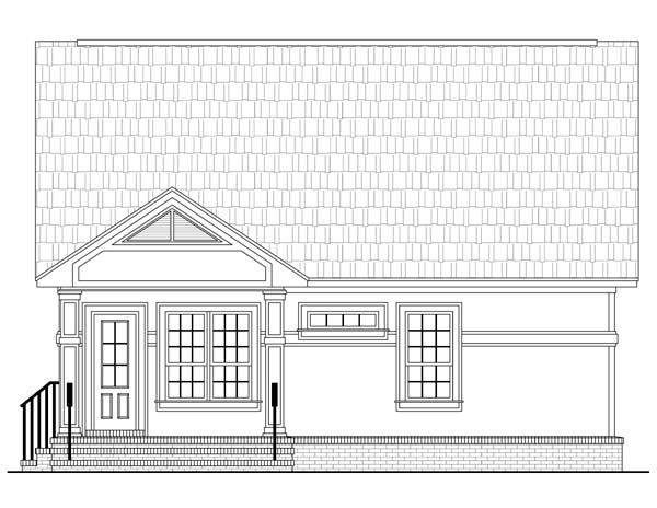 Country European Southern Traditional House Plan 59118 Rear Elevation