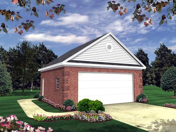 Country Traditional Garage Plan 59119 Elevation