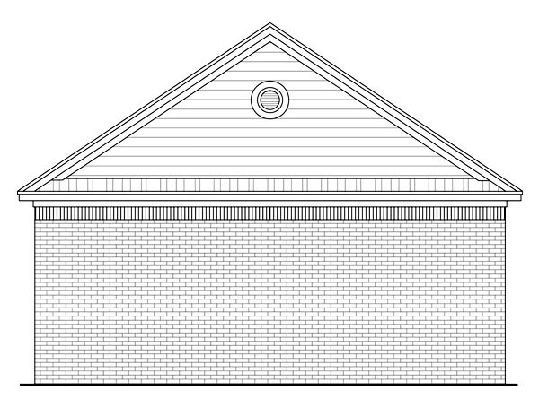 Country Traditional Garage Plan 59119 Rear Elevation