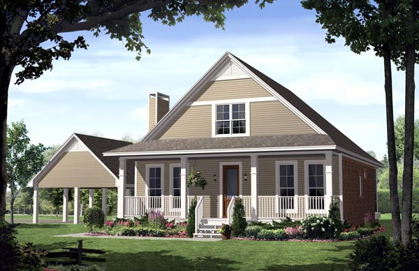 Country Farmhouse Traditional House Plan 59124 Elevation