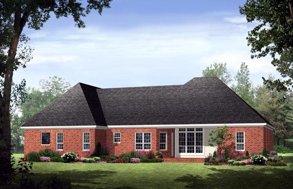 Country European Traditional House Plan 59128 Rear Elevation