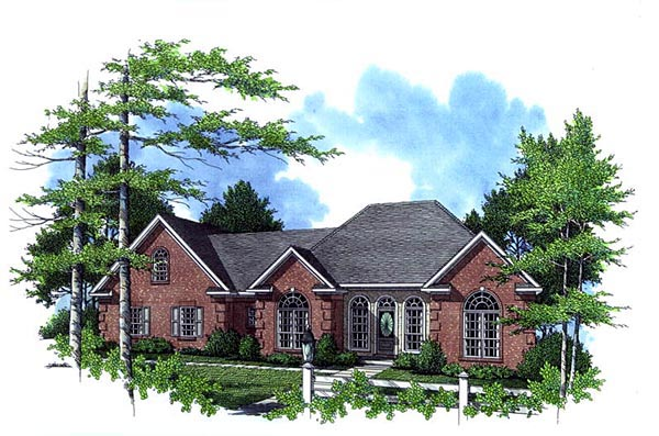 Country European French Country Traditional House Plan 59129 Elevation