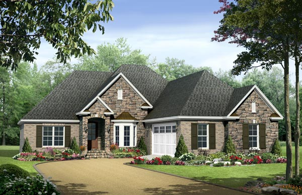 Country European Traditional House Plan 59133 Elevation