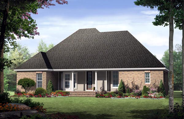 Country European Traditional House Plan 59133 Rear Elevation