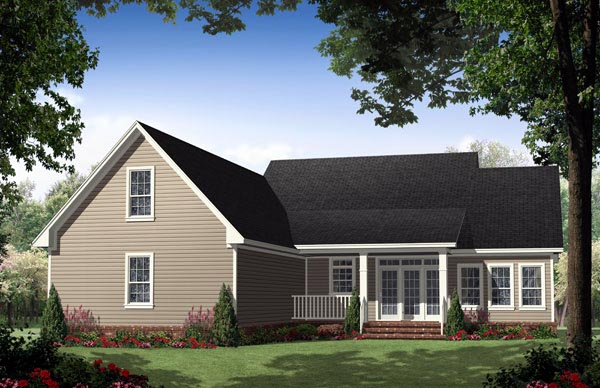Cottage Country Traditional House Plan 59134 Rear Elevation
