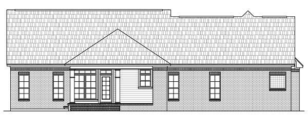 Country Ranch Traditional House Plan 59137 Rear Elevation