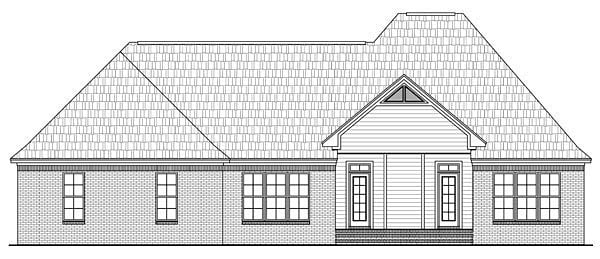 Country European French Country Traditional House Plan 59138 Rear Elevation