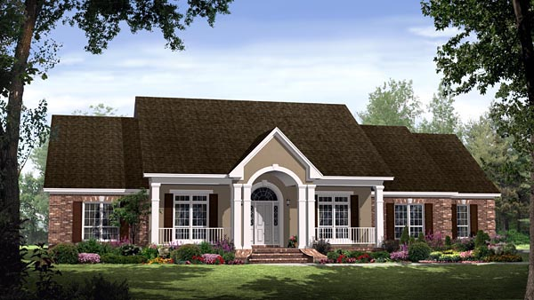 Elevation of Country   European   Traditional   House Plan 59144