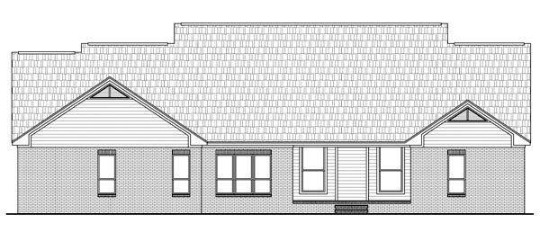Rear Elevation of Country   European   Traditional   House Plan 59144