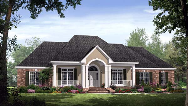 Country European Traditional House Plan 59145 Elevation