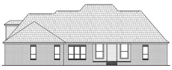 Country European Traditional House Plan 59145 Rear Elevation