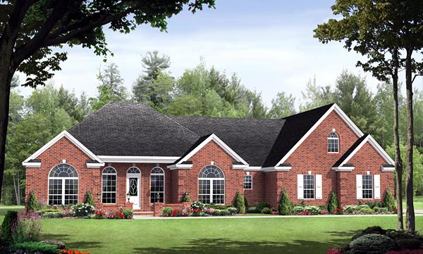 European Traditional House Plan 59151 Elevation