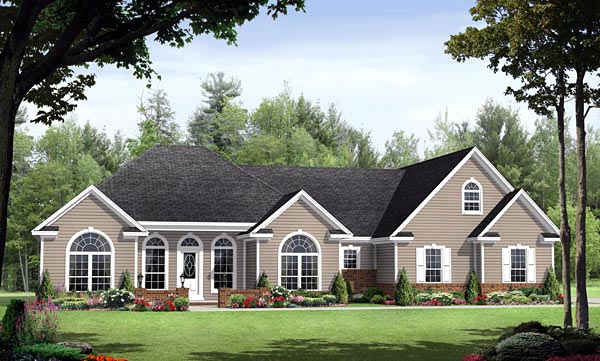 Country European Southern Traditional House Plan 59152 Elevation