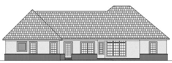 Country European Southern Traditional House Plan 59153 Rear Elevation