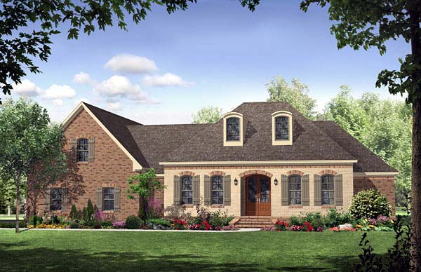 Country European French Country Southern House Plan 59157 Elevation