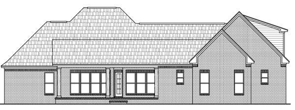 Country European French Country Southern House Plan 59157 Rear Elevation