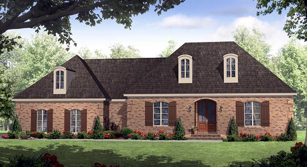 European Italian Traditional House Plan 59158 Elevation