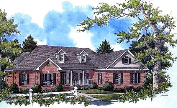 Country Southern Traditional House Plan 59162 Elevation