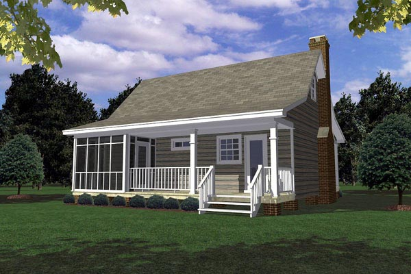 Cottage Country Southern House Plan 59163 Rear Elevation