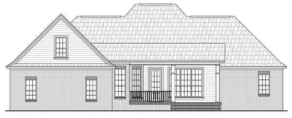 European French Country Tuscan House Plan 59167 Rear Elevation