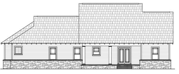 Cottage Country Craftsman House Plan 59170 Rear Elevation