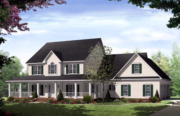 Elevation of Country   Traditional   House Plan 59172