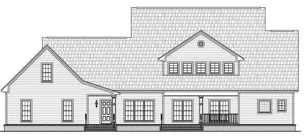 Rear Elevation of Country   Traditional   House Plan 59172