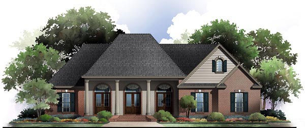 Country European Traditional House Plan 59174 Elevation