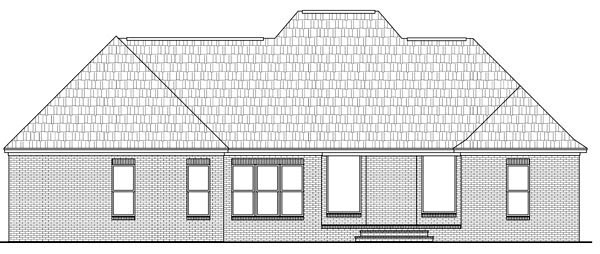 Country European Traditional House Plan 59174 Rear Elevation