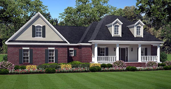 Country European Traditional House Plan 59179 Elevation