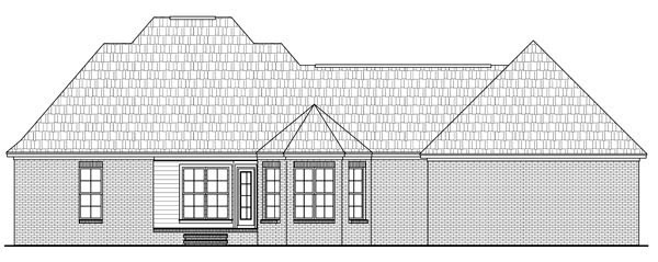 Country European Traditional House Plan 59179 Rear Elevation