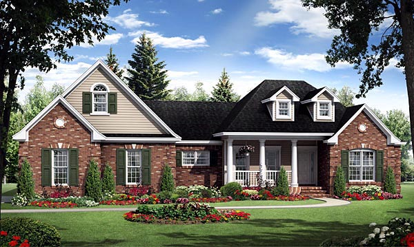 Country European French Country Traditional House Plan 59181 Elevation