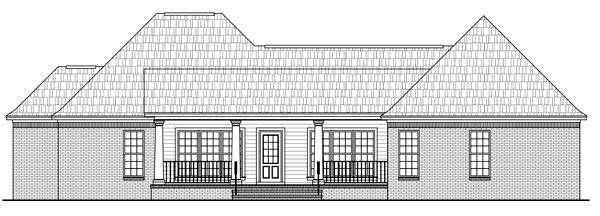 Country European French Country Traditional House Plan 59181 Rear Elevation
