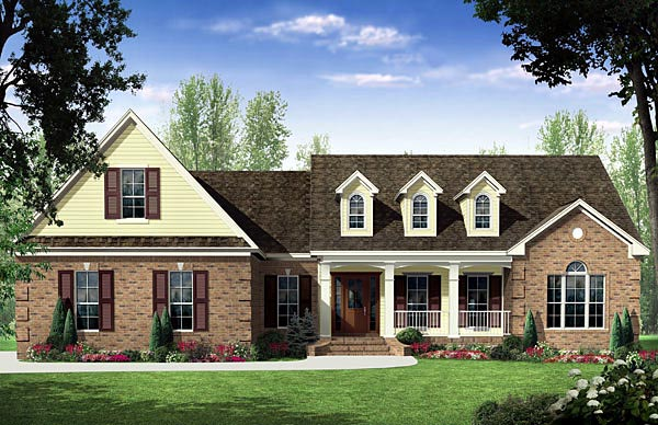 Country Traditional House Plan 59187 Elevation