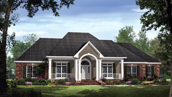 Country European Traditional House Plan 59189 Elevation