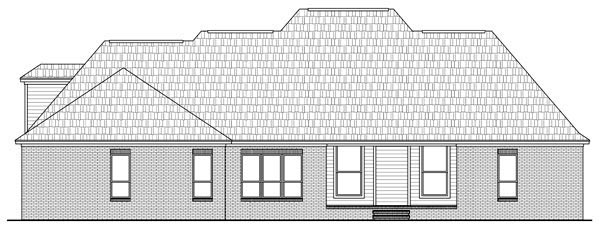 Country European Traditional House Plan 59189 Rear Elevation