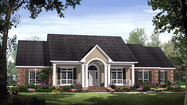 Country European Traditional House Plan 59190 Elevation