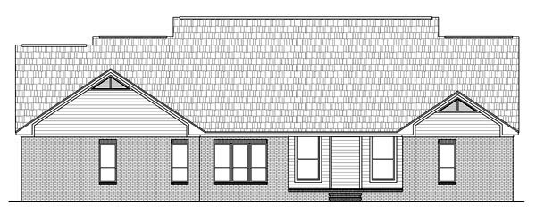 Country European Traditional House Plan 59190 Rear Elevation