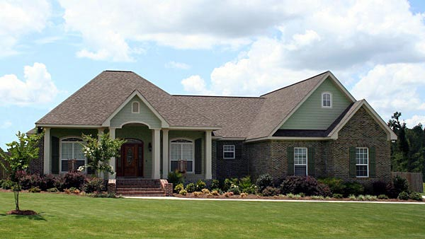 Country European Southern Traditional House Plan 59195 Elevation