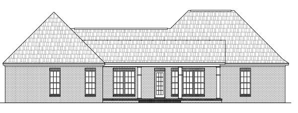Country European Southern Traditional House Plan 59195 Rear Elevation