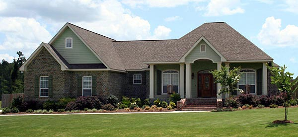 Country, European, Traditional House Plan 59197 with 4 Beds, 3 Baths, 2 Car Garage Elevation