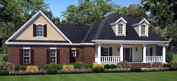 Country European Traditional House Plan 59199 Elevation